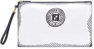 Fendi x Joshua Vides FF Logo Coated Wristlet