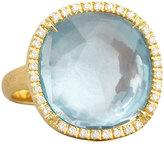 Marco Bicego Jaipur Sunset Diamond-Bezel Blue Topaz Ring