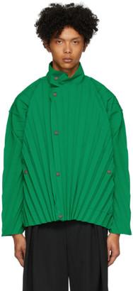 Homme Plissé Issey Miyake Green Edge Light Jacket