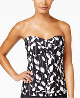Anne Cole Vines Printed Twist Shirred Tankini Top