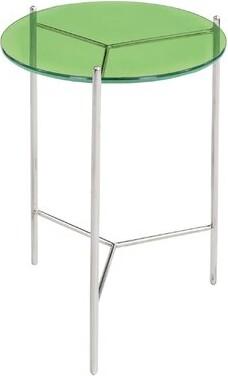 Latitude Run Antonne Tray Table Table Top Color: Green