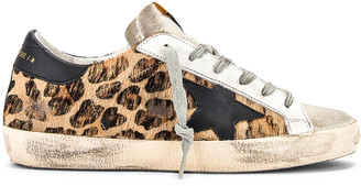 Golden Goose Superstar Sneaker in Snow Leopard & Black | FWRD