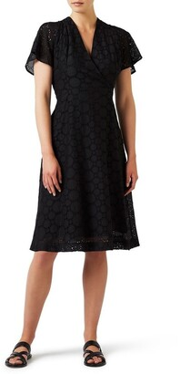 David Lawrence Circular Lace Wrap Dress