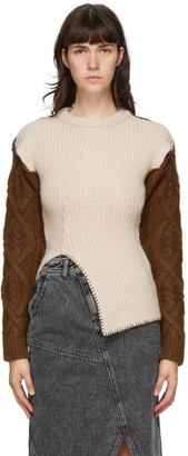 ANDERSSON BELL Beige and Brown Knit Mollyna Sweater
