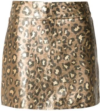 Andrea Bogosian Respect leopard-print mini skirt