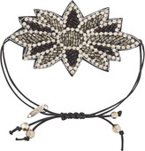 Pink Pewter Black Drawstring Bracelet