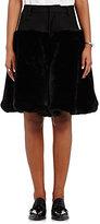 Noir Kei Ninomiya Women's Faux-Fur Shorts-BLACK