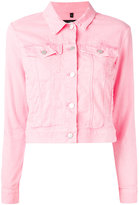 J Brand shrunken denim jacket - women - Cotton/Spandex/Elastane - M
