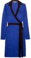 Diane von Furstenberg Jeannae Two-Tone Stretch-Knit Wrap Dress
