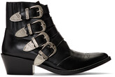 Thumbnail for your product : Toga Pulla Black Four Buckle Western Boots