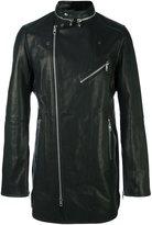 Diesel Black Gold mid-length flared biker jacket