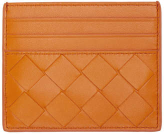 Bottega Veneta Orange Intrecciato Card Holder