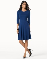Soma Intimates 3/4 Sleeve Fit and Flare Dress Royal