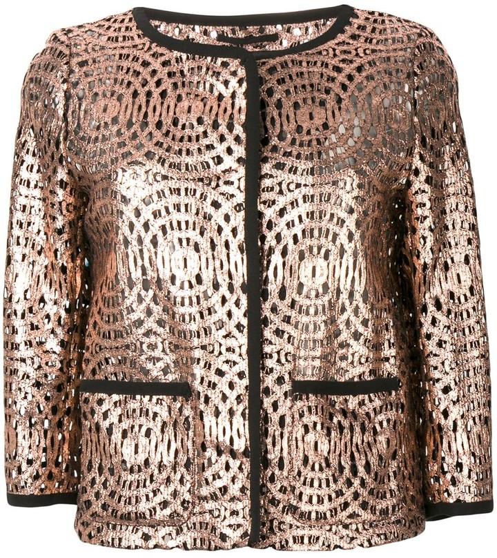 Herno patterned single-breasted jacket