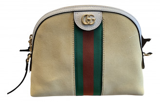 Gucci Ophidia Beige Suede Handbags