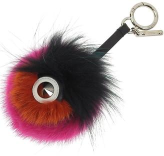 Fendi Multicolor Fur Monster Bug Bag Charm and Key Holder