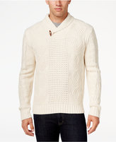 Weatherproof Men's Big and Tall Shawl Collar Sweater, Classic Fit