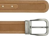 Moreschi Men's Tan Perforated Leather Belt