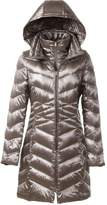 BLDO Women's Lightweight Packable Hood Mid-length Down Jacket Coat (S, )