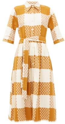 Ace&Jig Coco Checked Cotton Midi Shirtdress - Womens - Beige Multi
