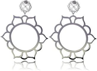 Georgina Jewelry Sun Flower Silver Signature Earrings