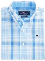 Vineyard Vines Boys' Hamblin Plaid Whale Button-Down Shirt - Little Kid