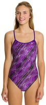 Nike Swim Epic Lights Modern Cut Out Tank One Piece Swimsuit 8114695