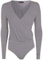 Topshop Long sleeve stripe drape body