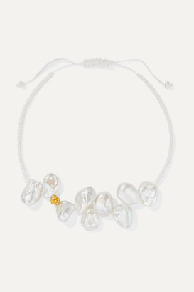 PACHAREE + Pach Tach Pearl, Rope And Gold-plated Bracelet - one size