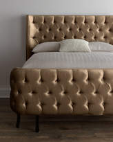 "Haute House Taupe Velvet ""Larkspur"" King Bed"