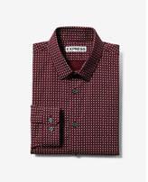 Express extra slim patterned long sleeve dress shirt