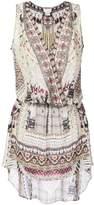 Camilla multi-print fitted dress