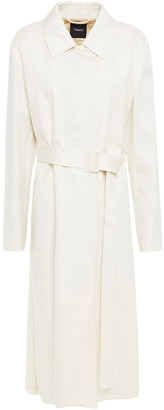 Theory Oversized Cotton-twill Trench Coat
