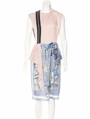 Hermes 2017 Passementerie Vichy Dress White