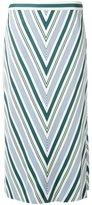 Tory Burch chevron print skirt - women - Polyester/Viscose - 4