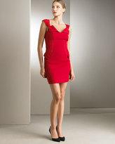 Seamed Stretch-Wool Minidress