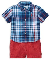 Ralph Lauren Boys' Plaid Shirt, Shorts & Belt Set - Baby
