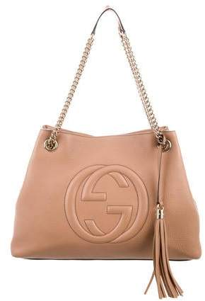 5099cb7ca11a43 Gucci Shoulder Bag With Chain Strap - ShopStyle