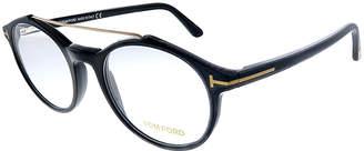 Tom Ford Eyeglass Frames - Black & Gold Aviator Eyeglasses