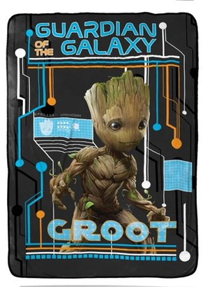 "Marvel Guardians of the Galaxy 'Wanted' Blanket, 62"" x 90"""