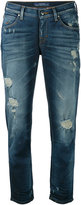 Jacob Cohen distressed cropped jeans - women - Cotton/Spandex/Elastane - 26