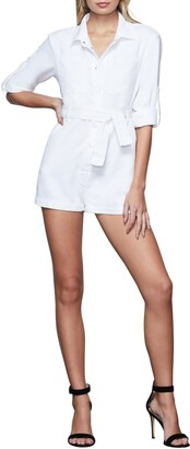Good American Belted Cuffed Romper
