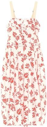 Lee Mathews Lulu floral cotton midi dress