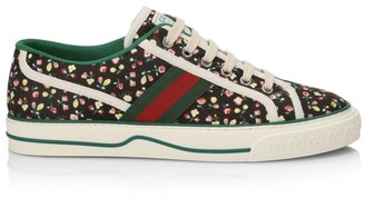 Gucci Floral-Print Tennis Sneakers