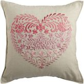 Pier 1 Imports Ombre Embroidered Heart Pink Pillow