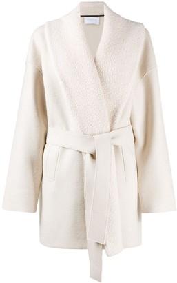 Harris Wharf London Belted Wool Wrap Coat