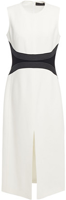 David Koma Two-tone Cady Midi Dress