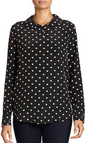 Equipment Adele Polka-Dot Washed Silk Blouse