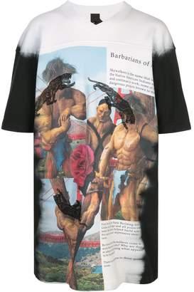 Bernhard Willhelm Barbarians-print oversized T-shirt