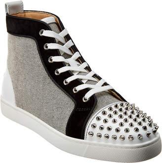 Christian Louboutin Lou Spikes Orlato Leather Sneaker